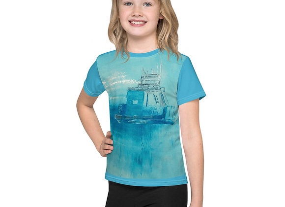 Blue Drummond Island Ferry Kids T-Shirt