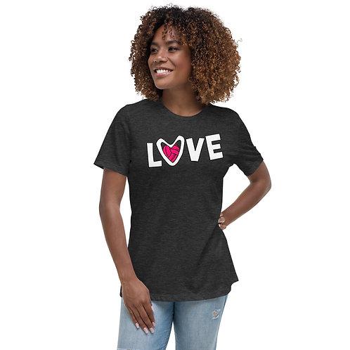 Girls - 'Volleyball LOVE' - Relaxed T-Shirt