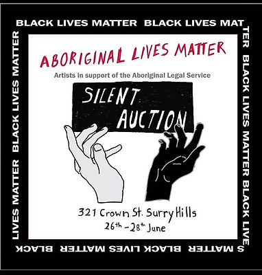 Artists for BLM Silent Auction Poster Ju