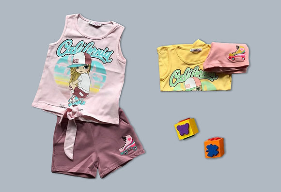 10 Pack Girls 2-Pcs Set (3y-8y) - £3.60