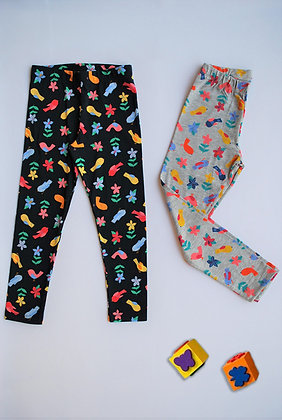 8 Pack Girls Legging (5y-8y) - £1.50