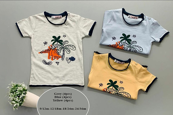 12 Pack Toddler Boys T-Shirt (0y-3y) - £1.60