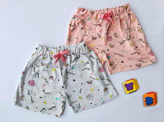 8 Pack Girls Shorts (5y-8y) - £1.30