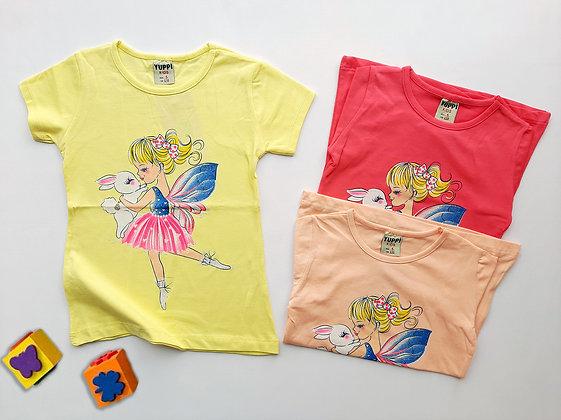 12 Pack Girls T-Shirt (5y-8y) - £1.45