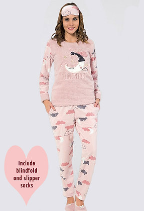 4x Ladies Fleece PJ Set (S-M-L-XL)