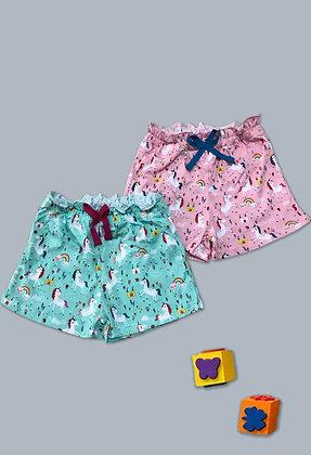 10 Pack Unicorn Girls Shorts (2y-7y) - £1.70
