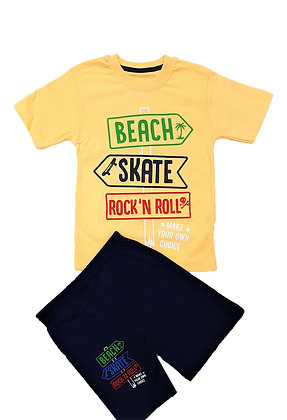 16x Boys T-Shirt/Short Sets (£2.90) - 4 Colours