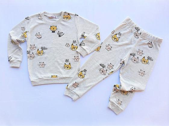5 Pack Girls Pyjama Set (3y-8y) - £3.85