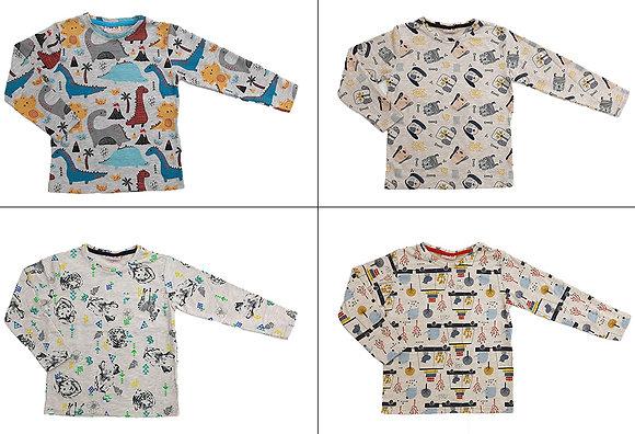 16 Pcs Boys Long Sleeve Shirt / £1.80 Per Item