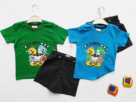 8 Pack Toddler Boys 2-Pcs Set (1y-4y) - £2.80
