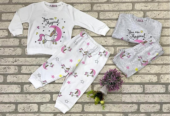 8 Pack Toddler Girls PJ Set (0y-3y) - Per set: £3.75