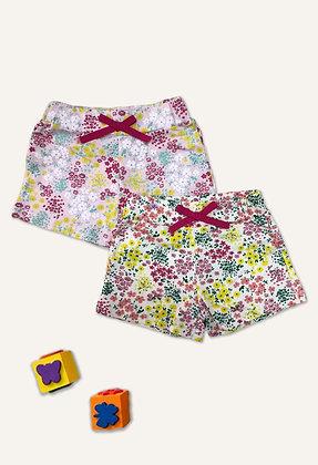 10 Pack Girls Shorts (2y-7y) - £1.20