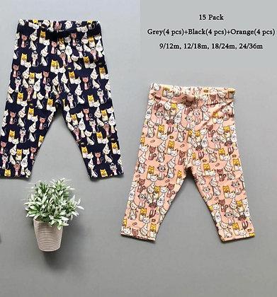 8 Pack Toddler Girls Legging (0y-3y) - £1.25
