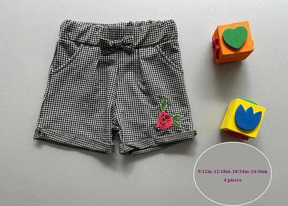 5 Pack Toddler Girls Shorts (0y-3y) - £1.90