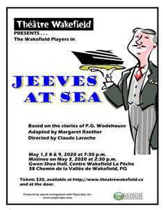 Jeeves at Sea - May 1,2,8 & 9 @ 7.30pm and May 3 @ 2.30pm