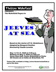 Jeeves at Sea - May 1,2,8 & 9 @ 7.30pm and May 3 @ 2.30pm