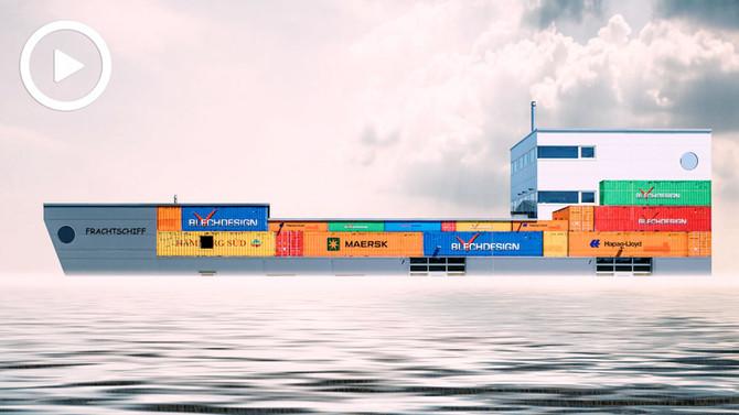 Schiff Ahoi - Beschriftung ganz GROSS