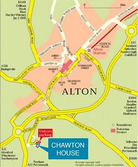 Direction to Chawton House in Hampshire