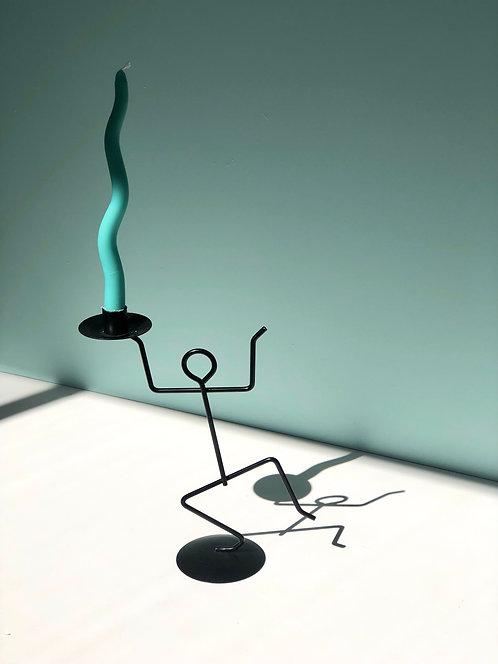 postmodern dancing man candleholder