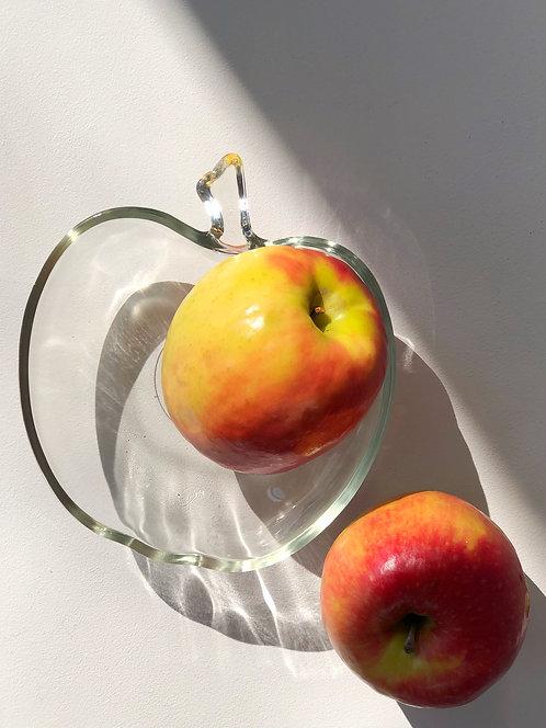 glass apple bowl