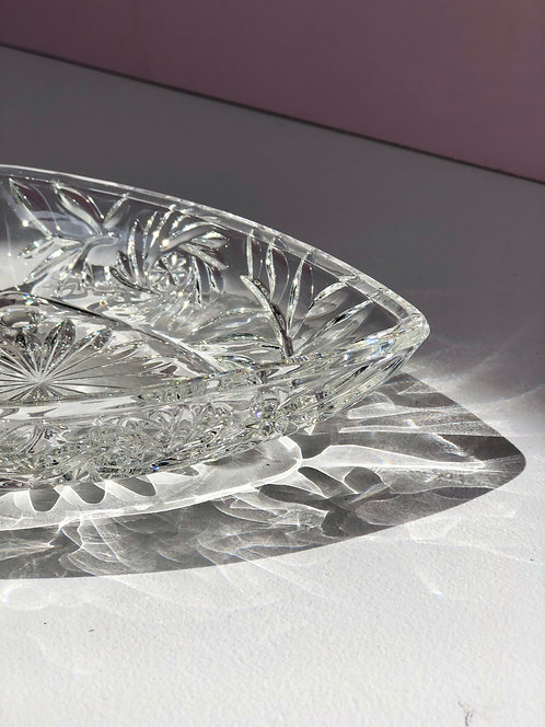 clear cut glass catchall