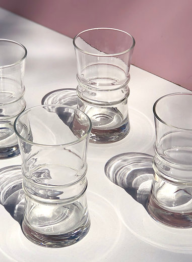 clear high ball glasses (set of 4)