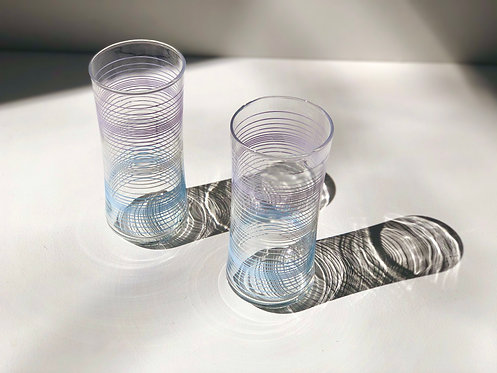 striped drinking glasses (set of 2)