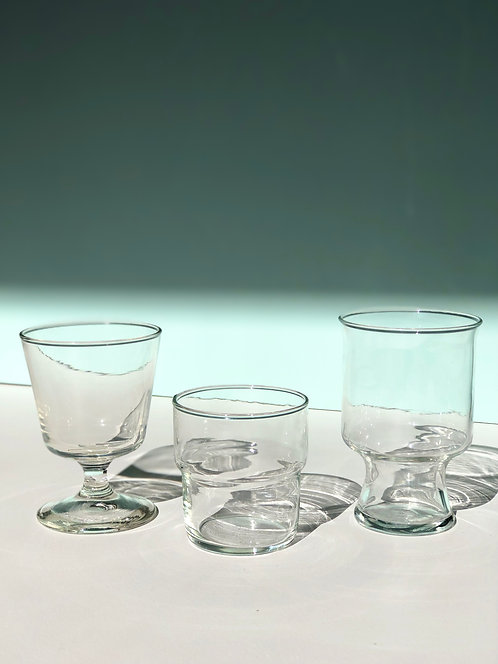 assorted drinking glasses (sold in pairs)