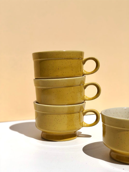 yellow ceramic oven to table mugs