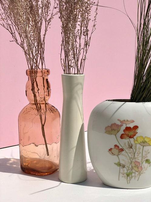 pink glass brookfield baby top milk bottle