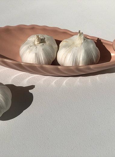 pink ceramic oblong bowl