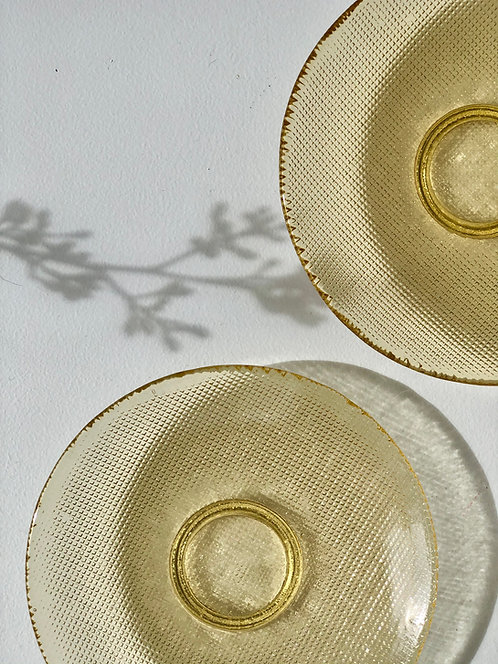 amber glass bread plates (set of 3)