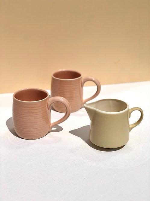 70's peachy pink mugs (set of 2)
