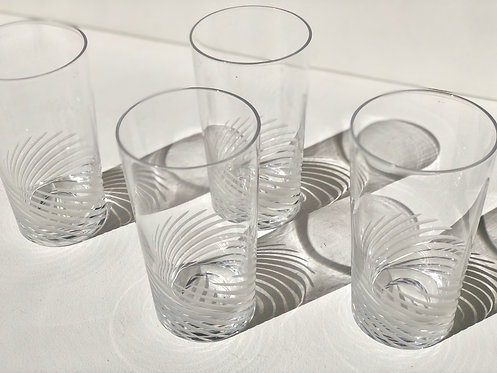 swirl cut drinking glasses (set of 4)
