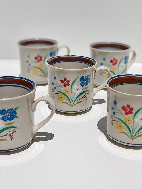 salem stoneware mugs (set of 5)
