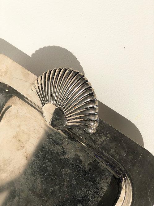 sheridan silver seashell tray