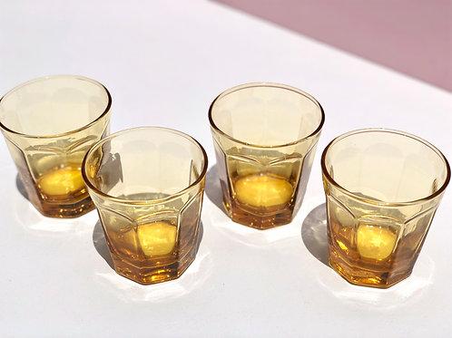 amber rocks glasses (set of 4)