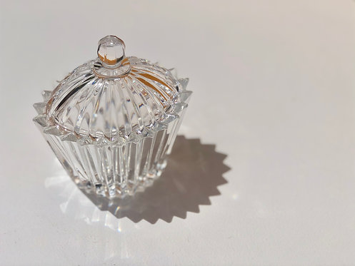 spiked glass jar with lid