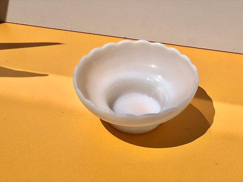 milk glass pedestal bowl