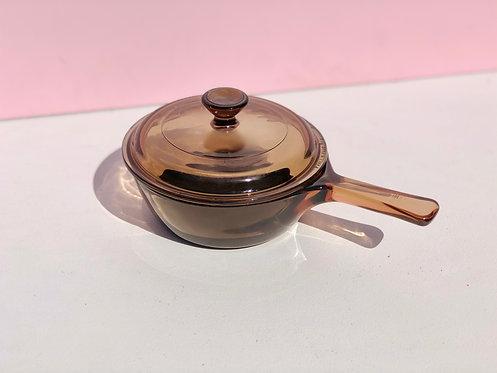 amber vision corning .5L sauce pan + lid