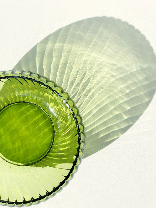 green optic glass bowl