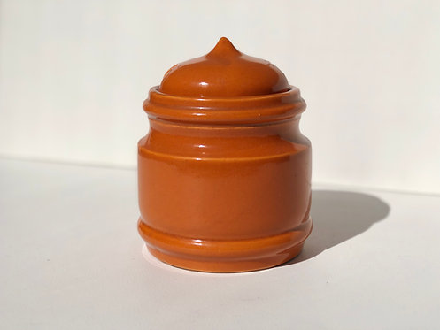 orange ceramic heilmann canister