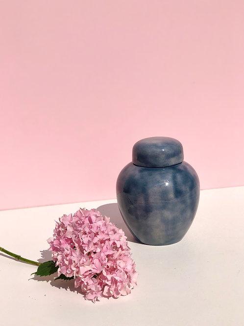 blue ceramic ginger jar
