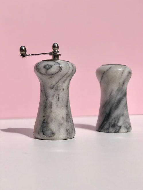 marble salt + pepper set (set of 2)