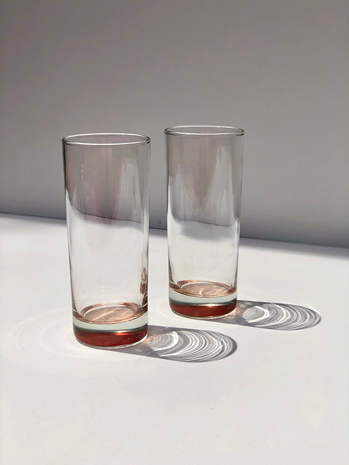 pink collins glasses (set of 2)