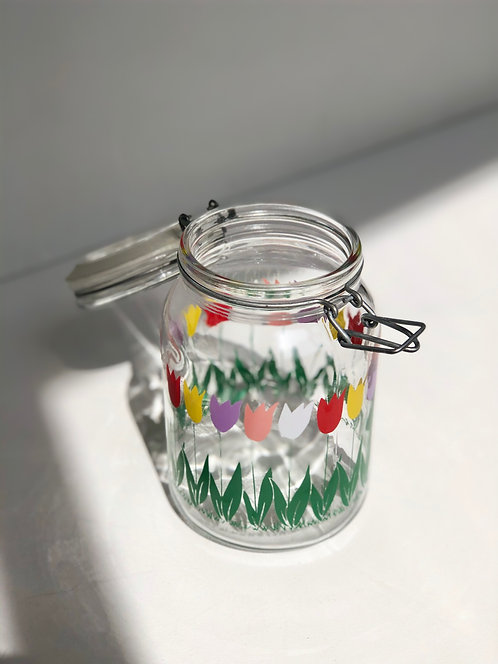 tulip glass canister