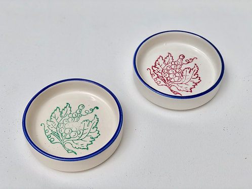 small italian olive oil dishes (set of 2)