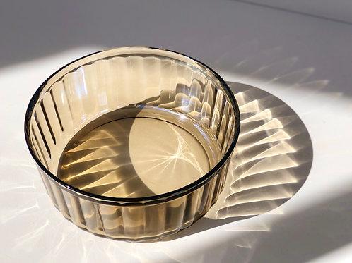 large brown glass mixing bowl