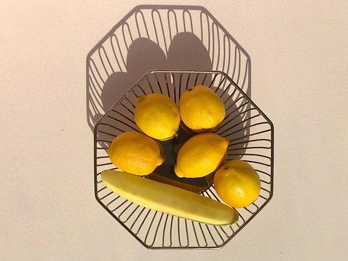 Italian silver plated basket