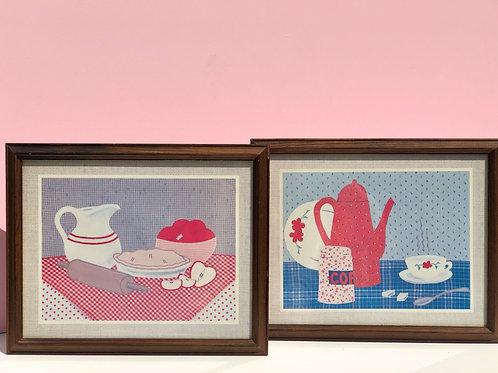 framed kitchen art